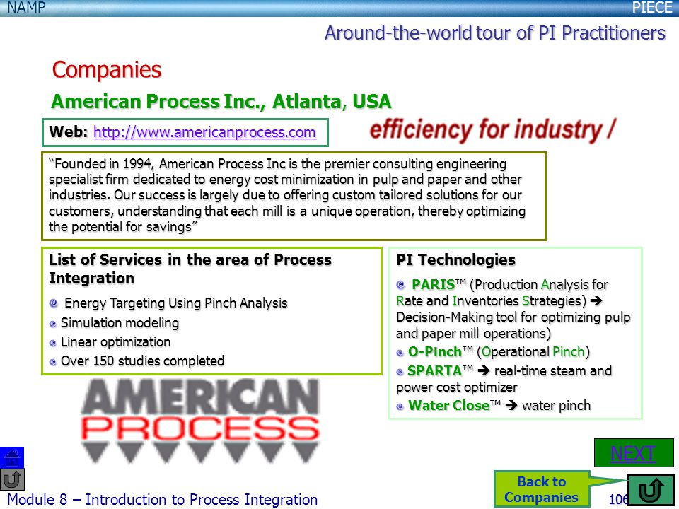 Companies Around-the-world tour of PI Practitioners