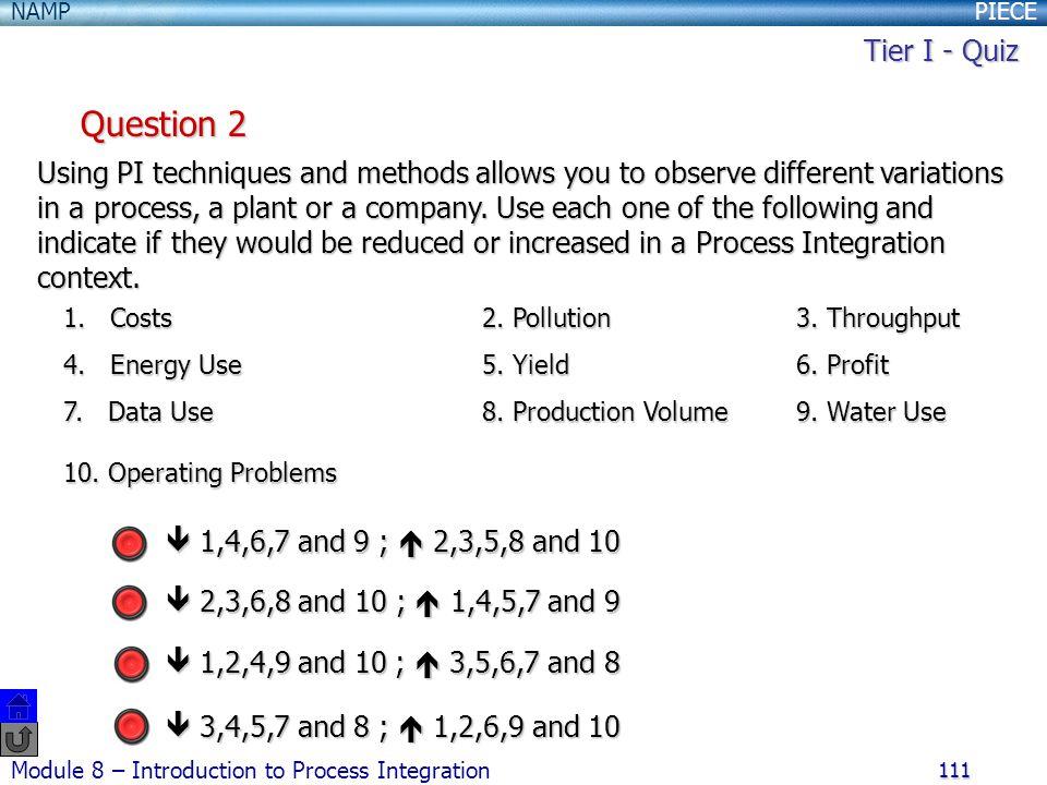 Tier I - Quiz Question 2.