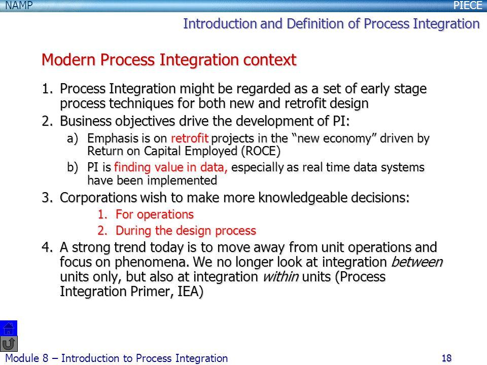 Modern Process Integration context