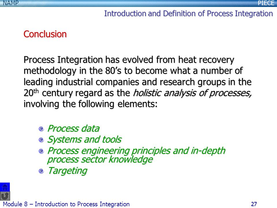Process engineering principles and in-depth process sector knowledge