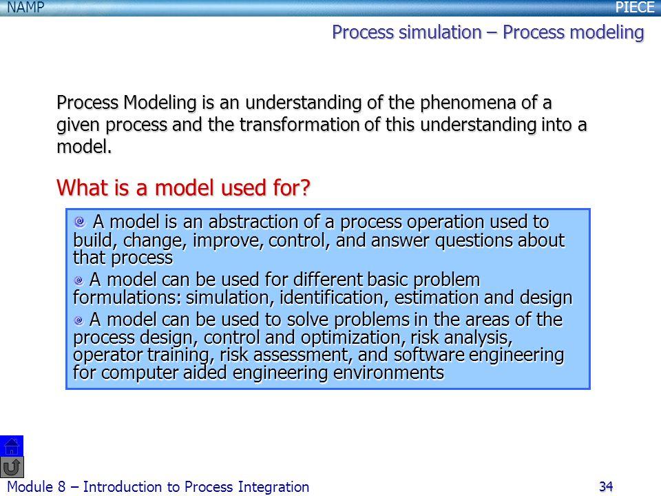 Process simulation – Process modeling