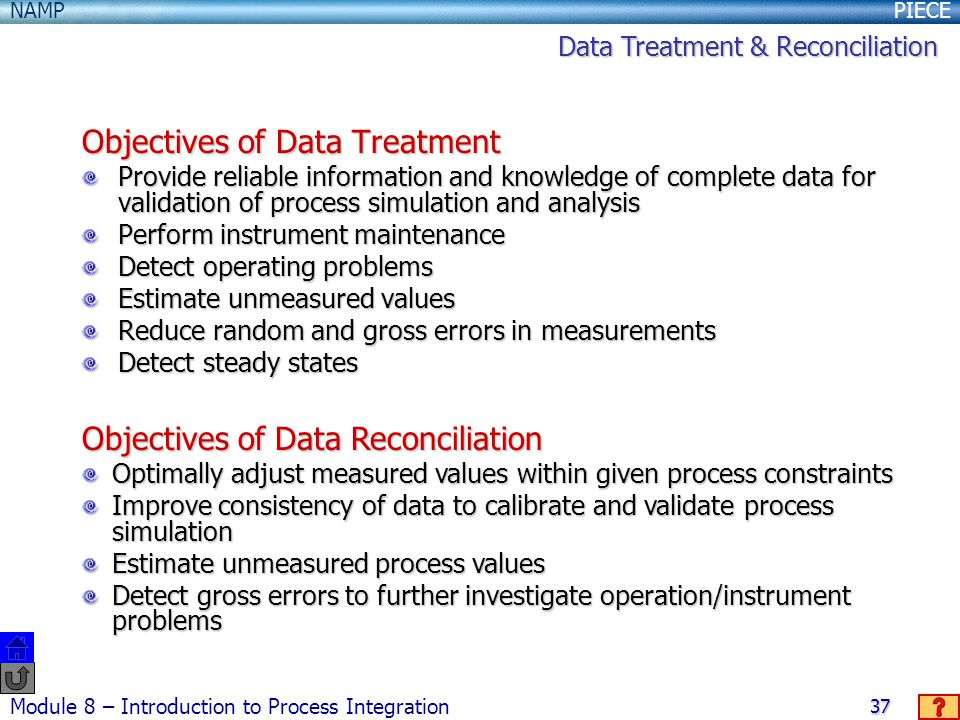 Objectives of Data Treatment