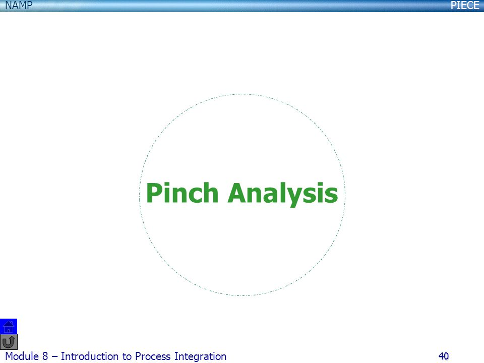Pinch Analysis Module 8 – Introduction to Process Integration
