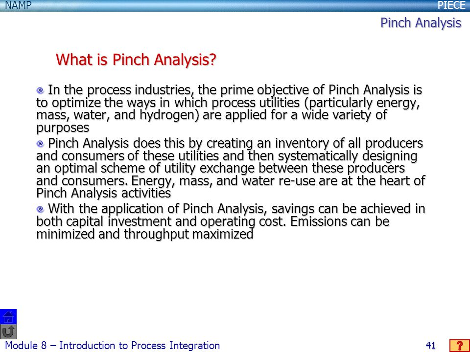 What is Pinch Analysis Pinch Analysis