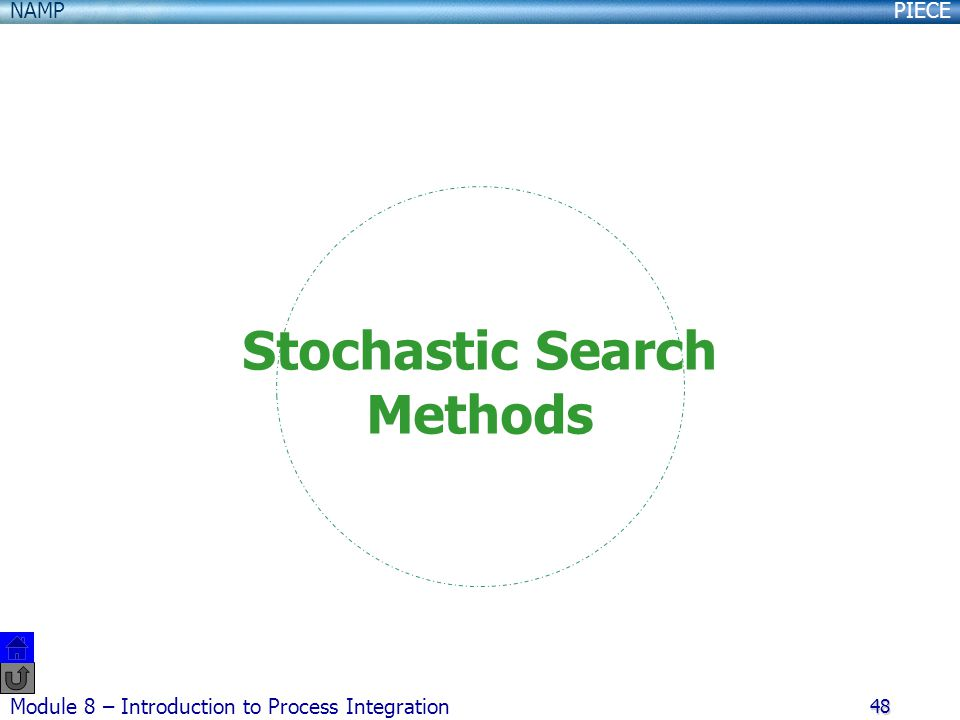 Stochastic Search Methods