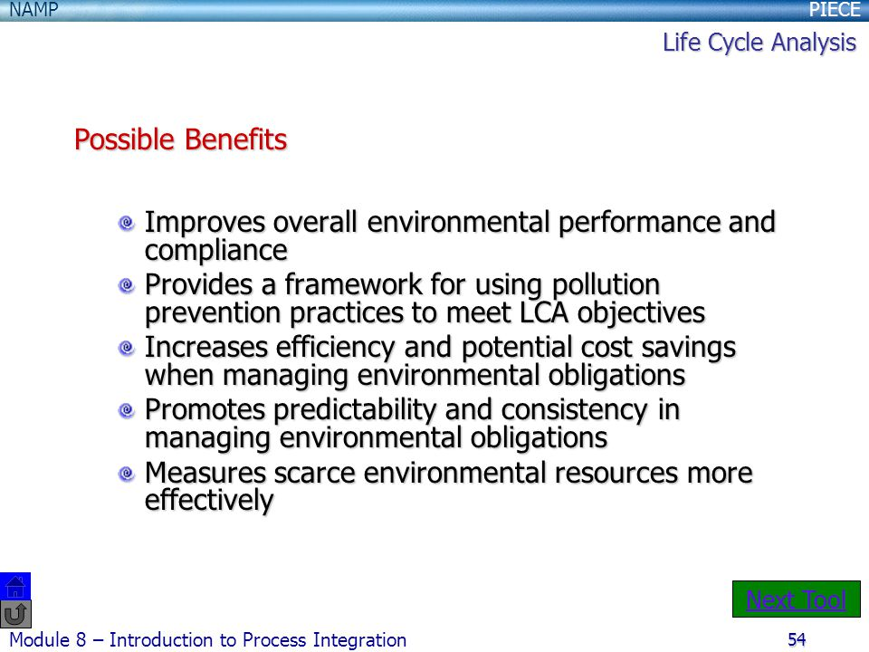 Improves overall environmental performance and compliance