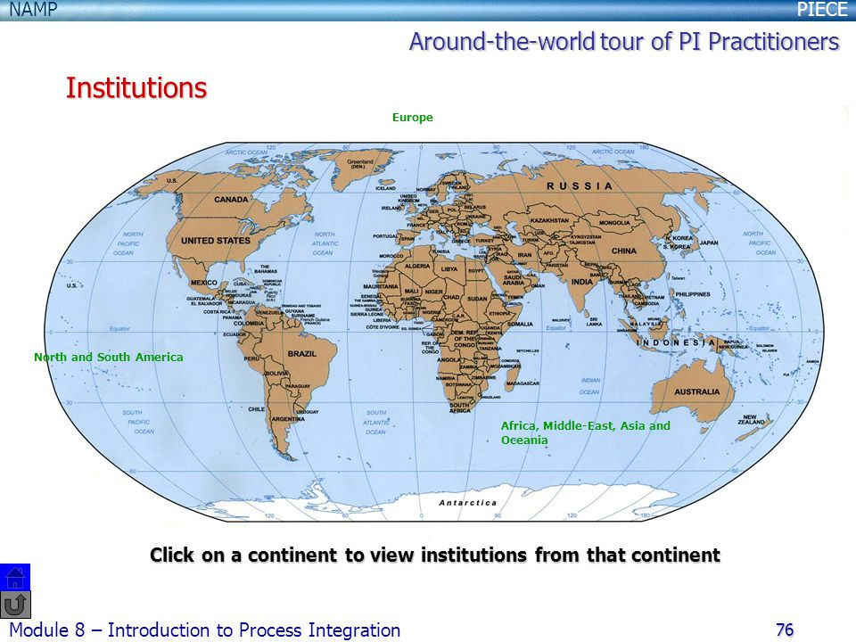 Institutions Around-the-world tour of PI Practitioners
