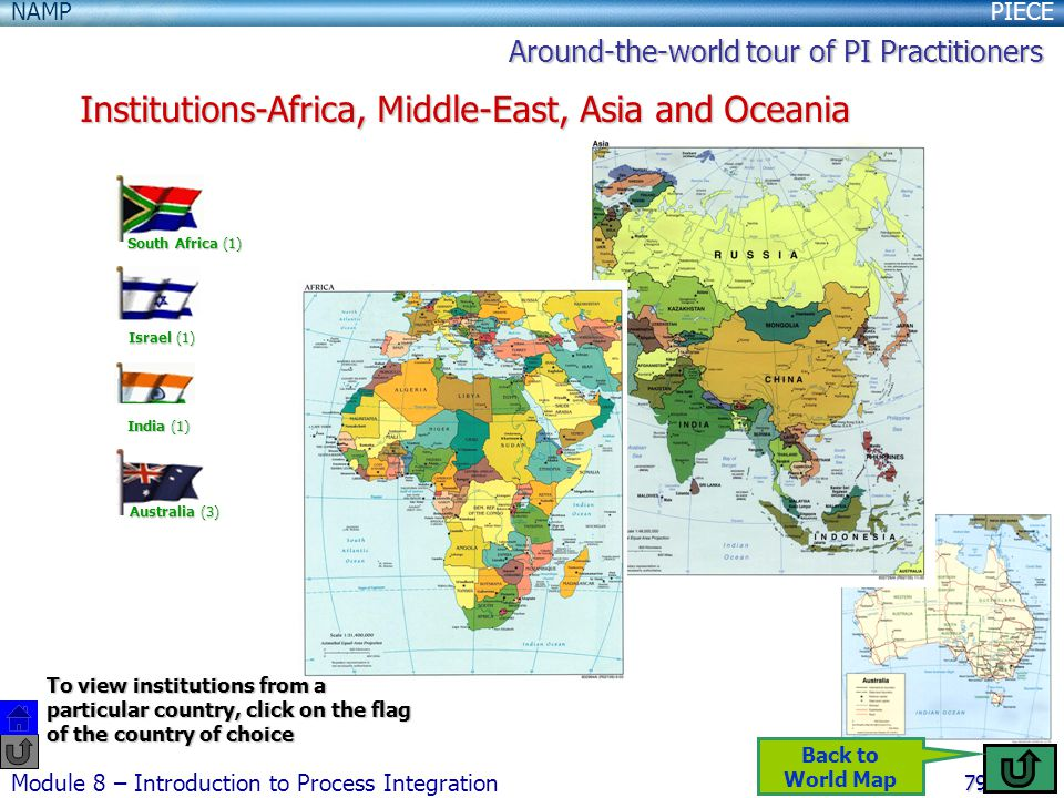 Institutions-Africa, Middle-East, Asia and Oceania