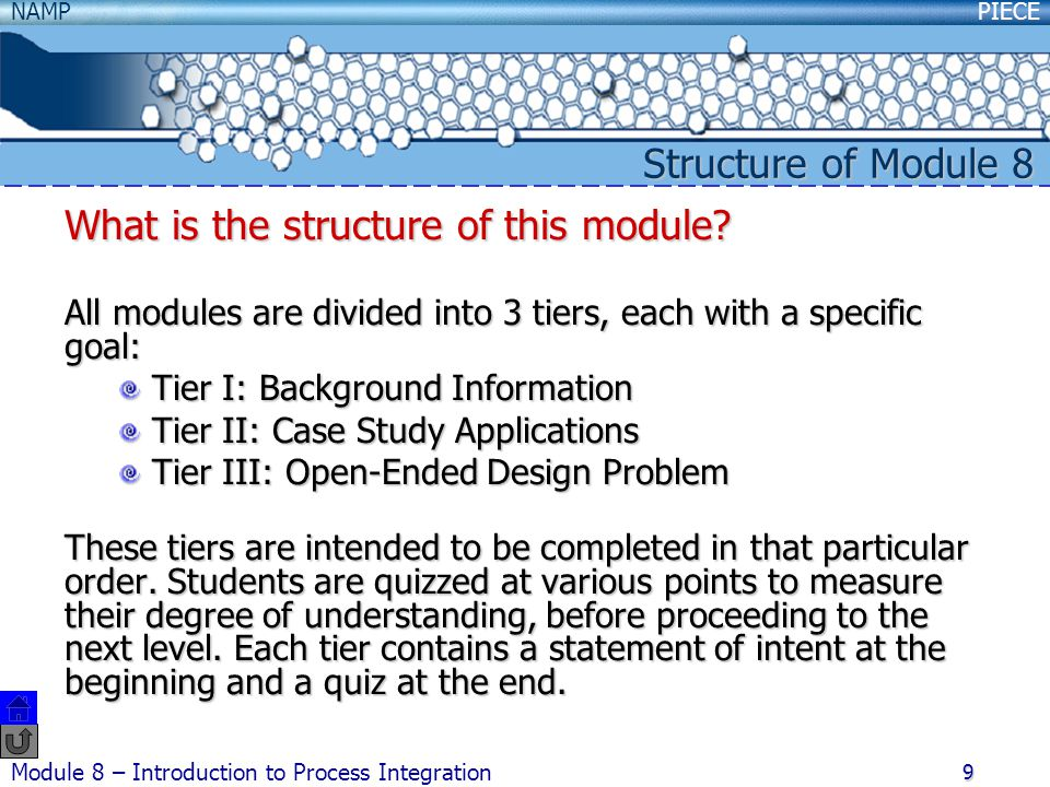 What is the structure of this module