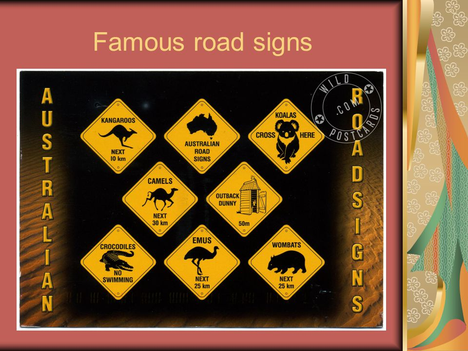 Famous road signs
