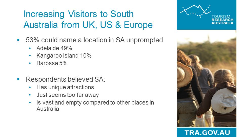Increasing Visitors to South Australia from UK, US & Europe