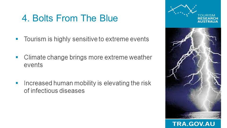 4. Bolts From The Blue Tourism is highly sensitive to extreme events
