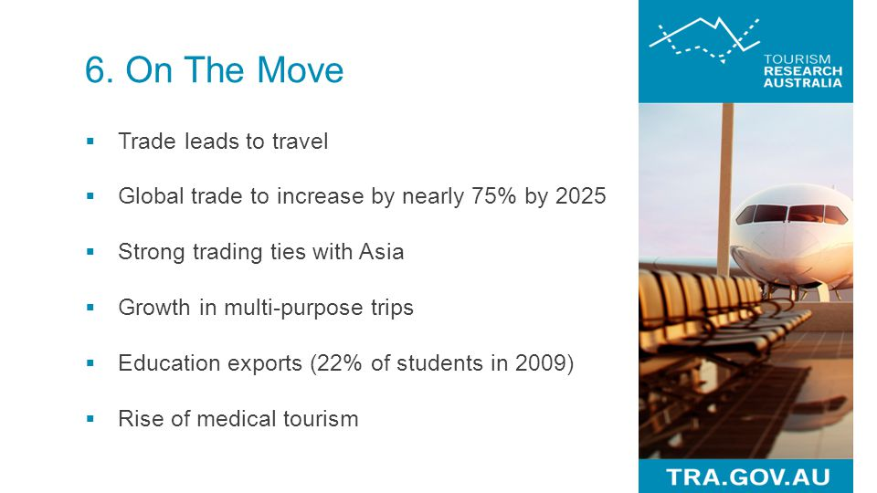 6. On The Move Trade leads to travel