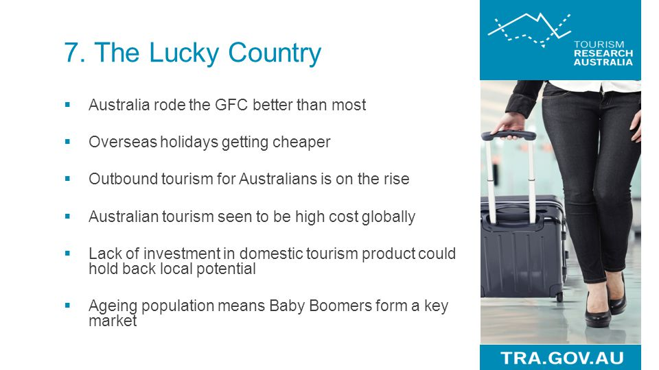 7. The Lucky Country Australia rode the GFC better than most