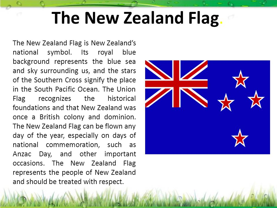 The New Zealand Flag.