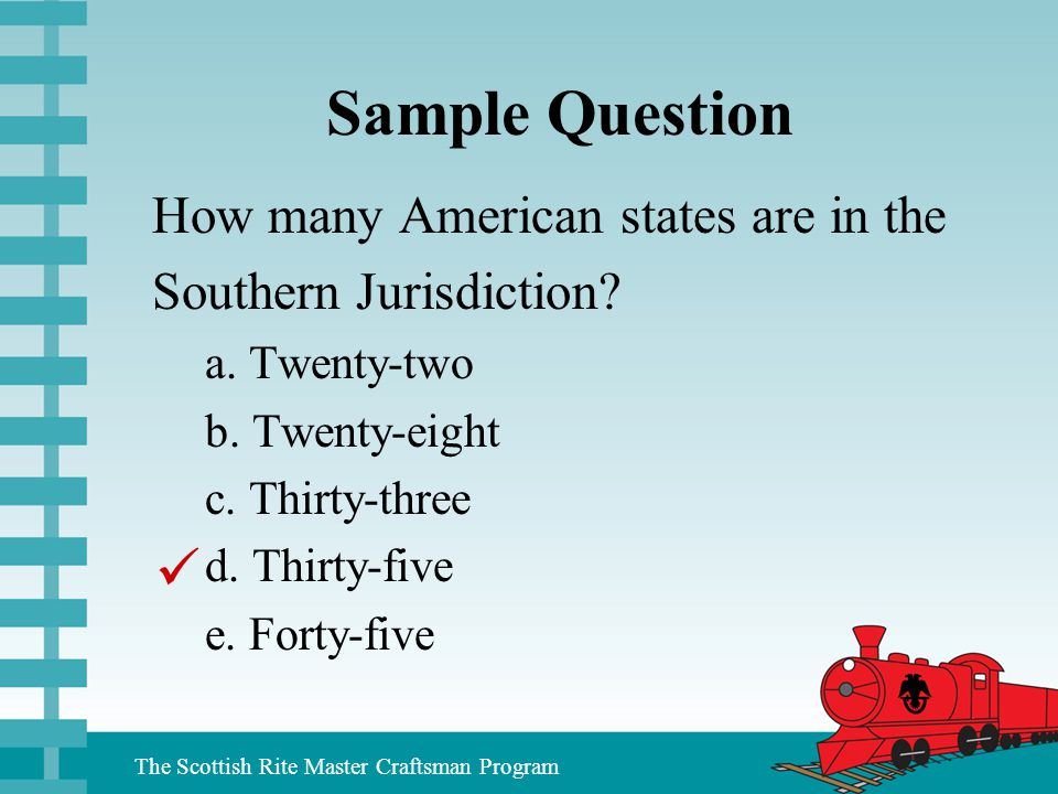 Sample Question  How many American states are in the