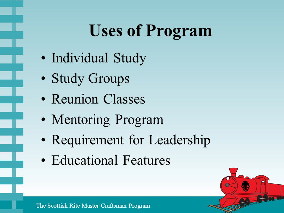 Uses of Program Individual Study Study Groups Reunion Classes