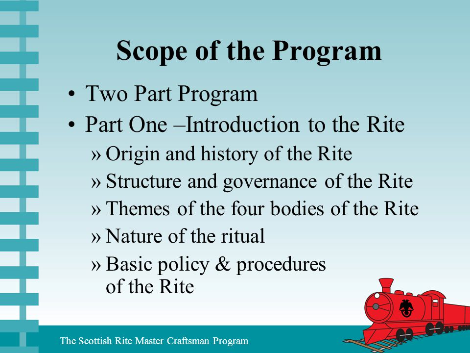 Scope of the Program Two Part Program