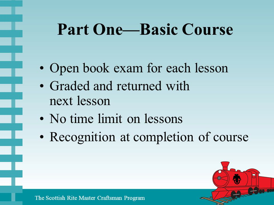 Part One—Basic Course Open book exam for each lesson