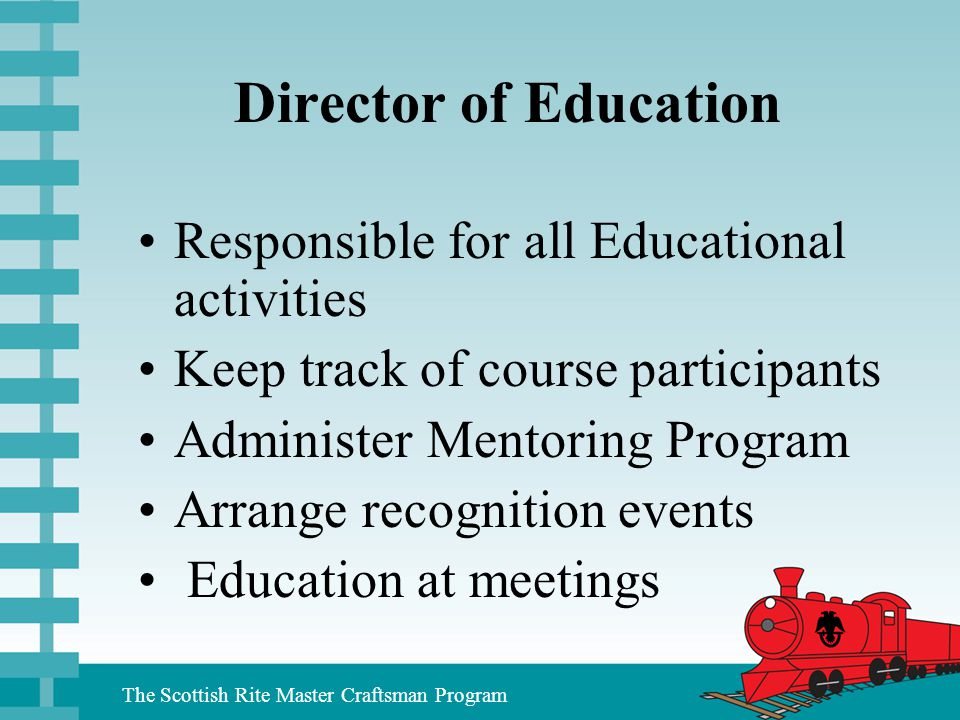 Director of Education Responsible for all Educational activities