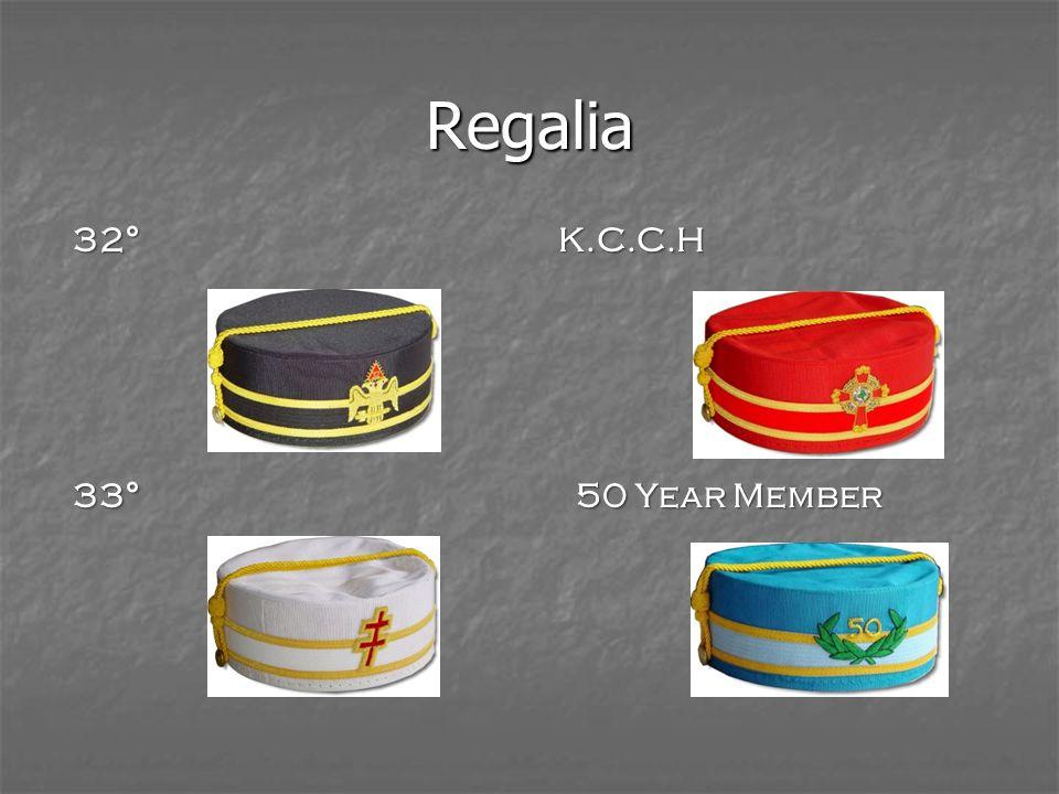 Regalia 32° K.C.C.H 33° 50 Year Member