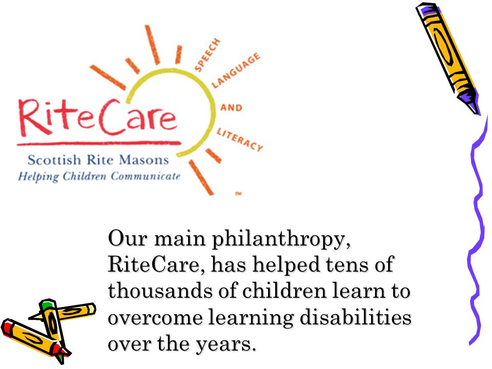Our main philanthropy, RiteCare, has helped tens of thousands of children learn to overcome learning disabilities over the years.