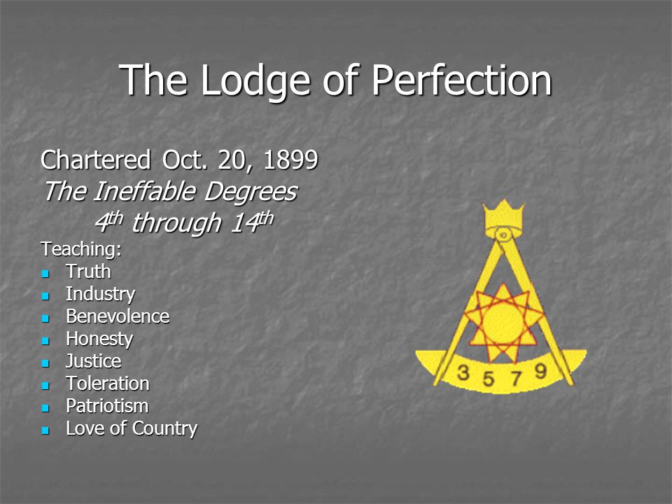The Lodge of Perfection