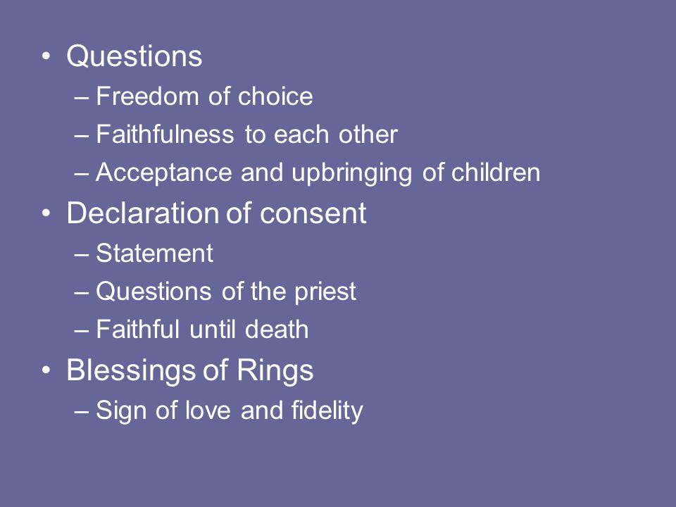 Declaration of consent