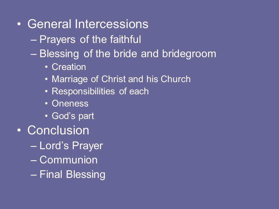 General Intercessions