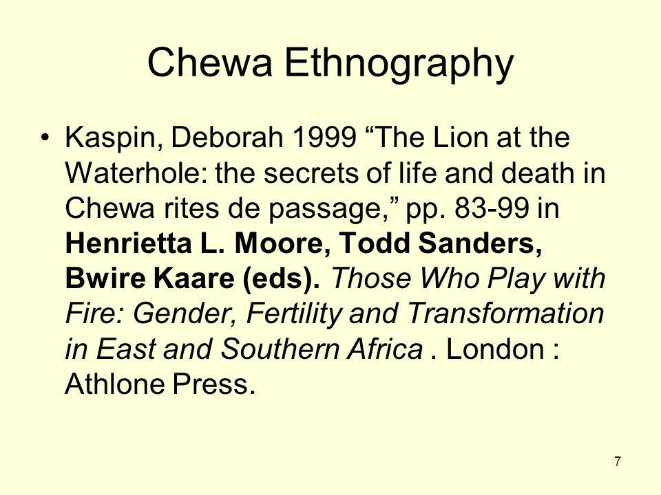 Chewa Ethnography