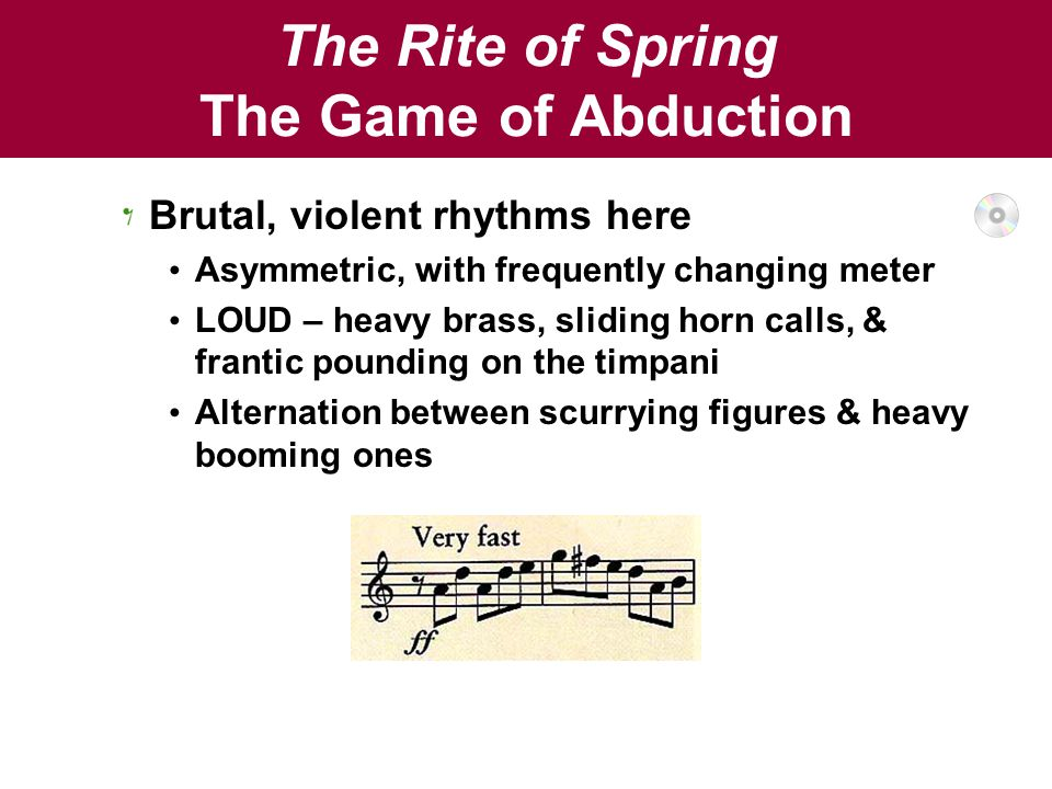 The Rite of Spring The Game of Abduction