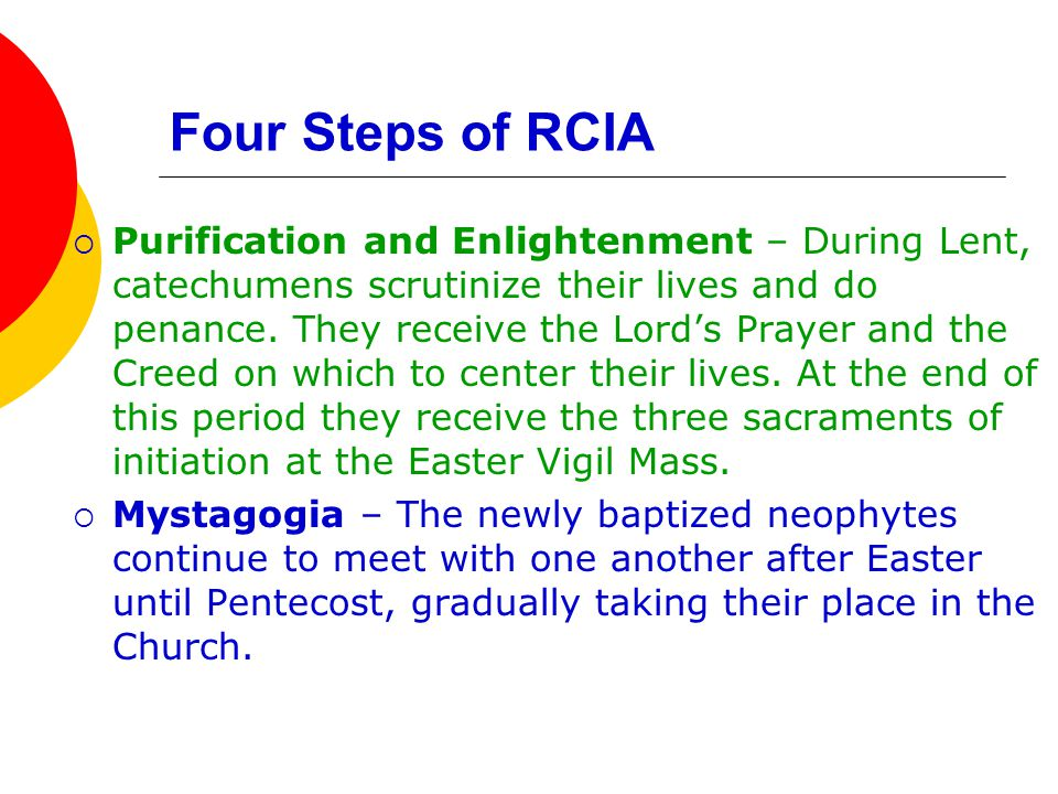 Four Steps of RCIA