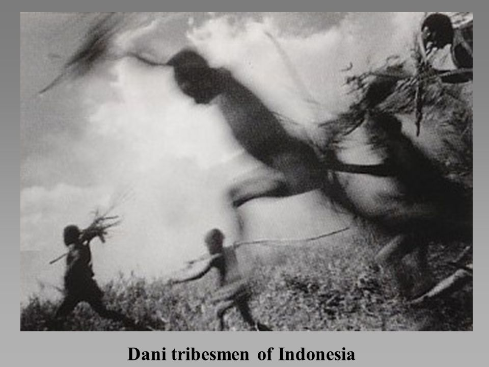 Dani tribesmen of Indonesia