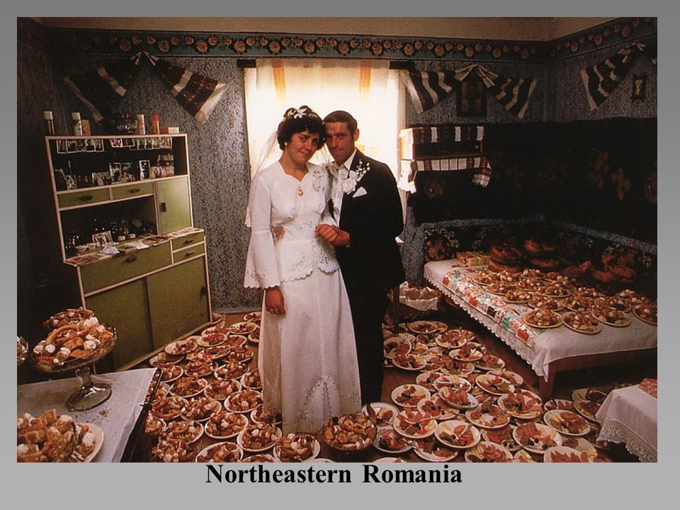 *A Romanian couple prepares for a wedding reception