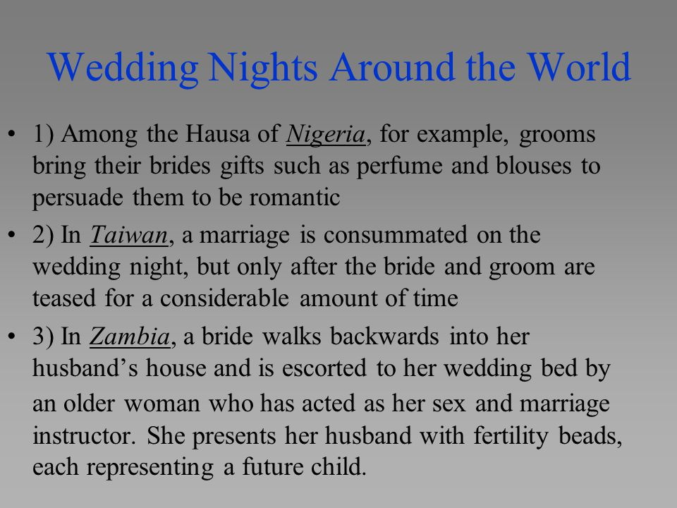 Wedding Nights Around the World