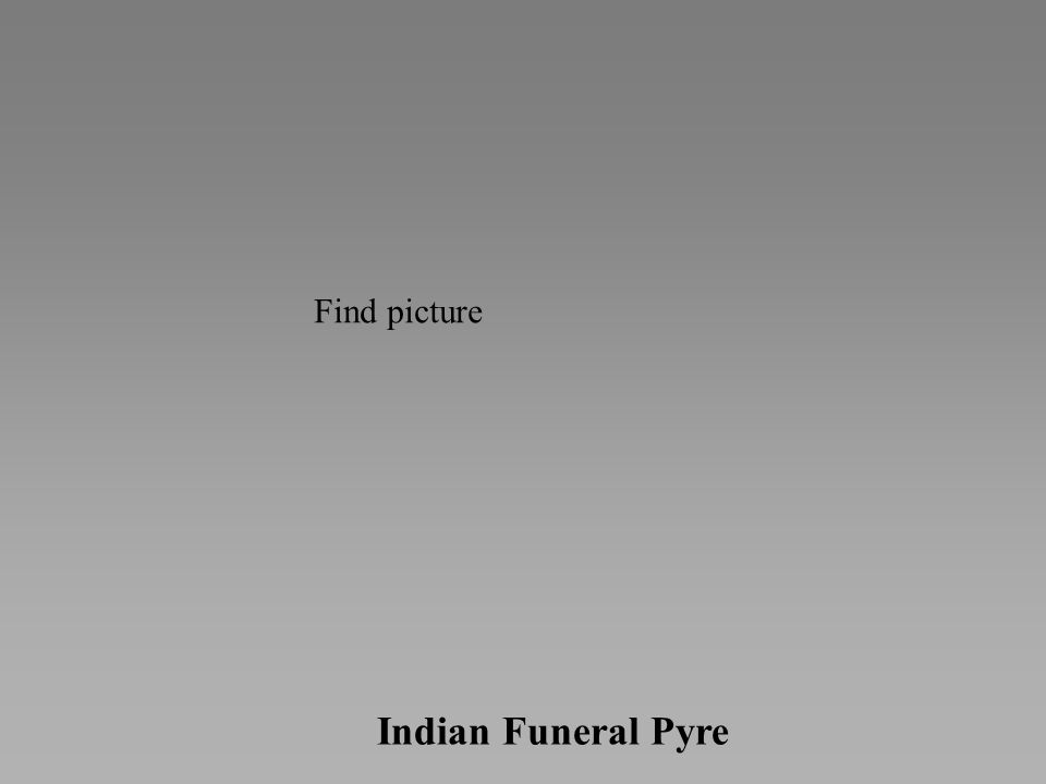Indian Funeral Pyre Find picture