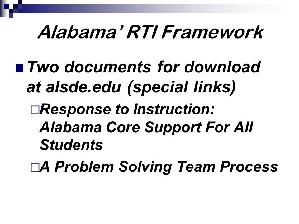 Alabama' RTI Framework