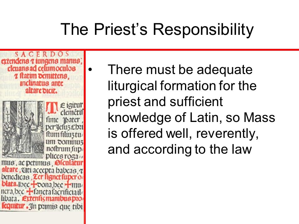 The Priest's Responsibility