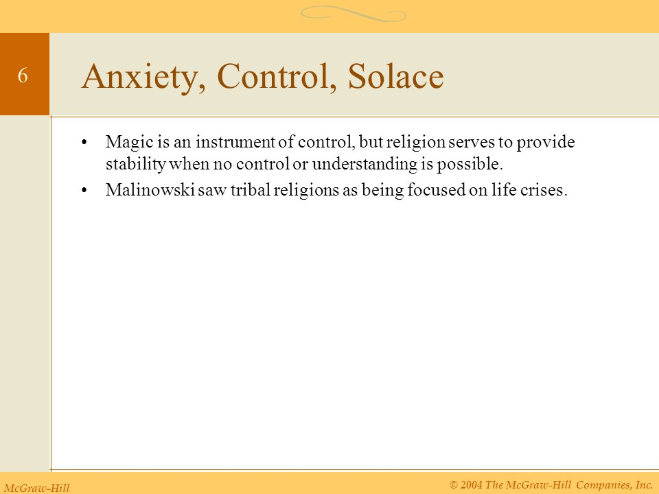 Anxiety, Control, Solace