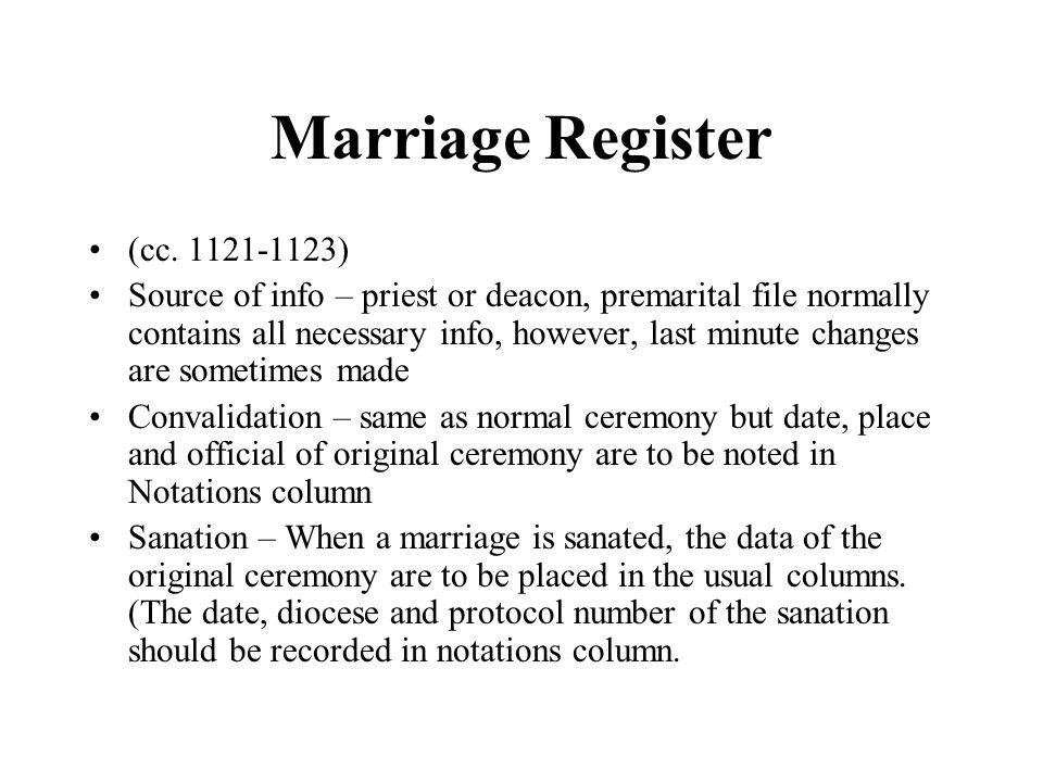 Marriage Register (cc. 1121-1123)