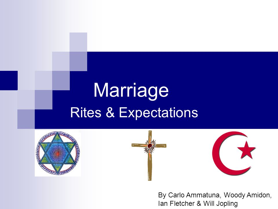 Marriage Rites & Expectations