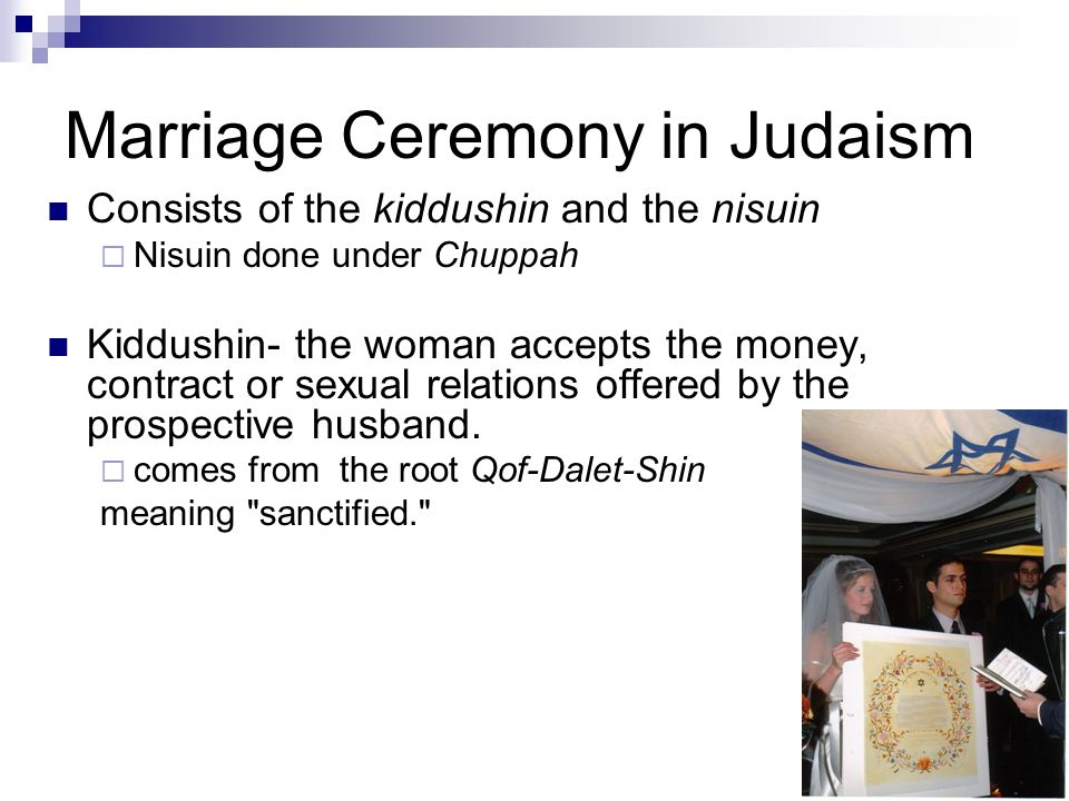 Marriage Ceremony in Judaism