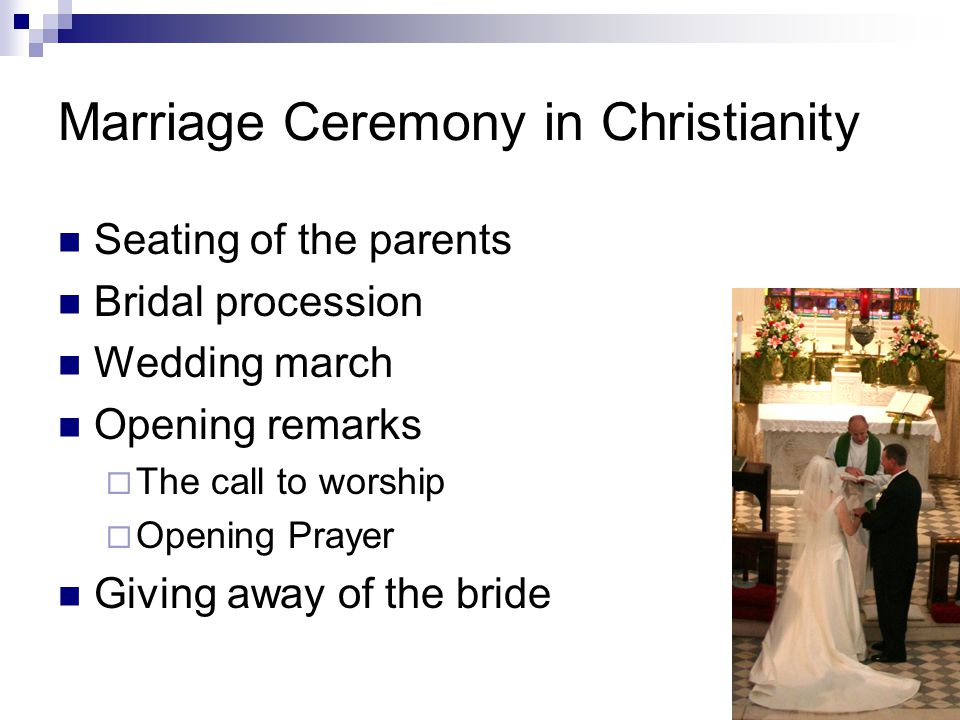 Marriage Ceremony in Christianity