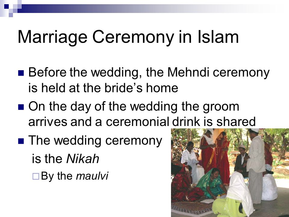 Marriage Ceremony in Islam