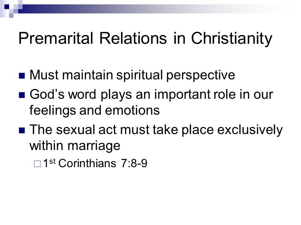 Premarital Relations in Christianity