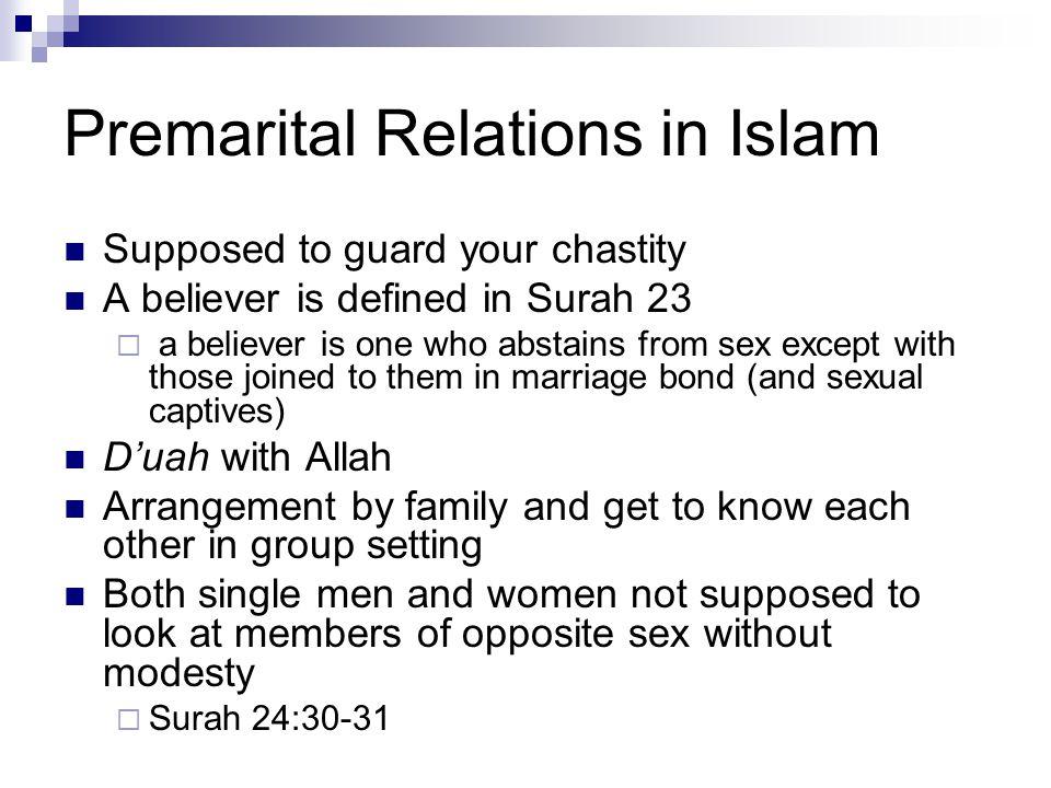 Premarital Relations in Islam