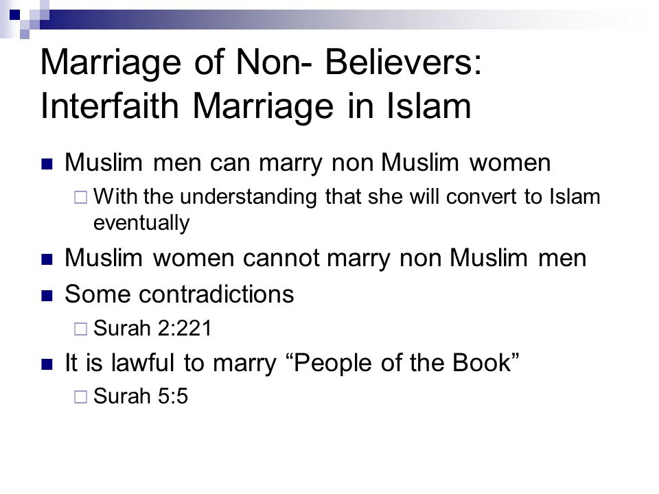 Marriage of Non- Believers: Interfaith Marriage in Islam