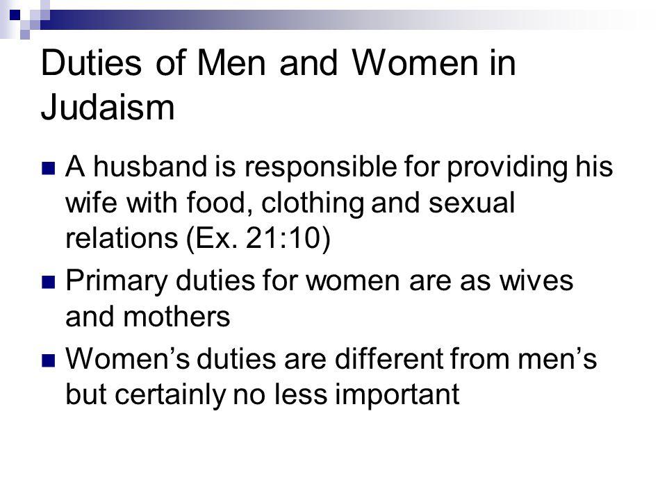 Duties of Men and Women in Judaism