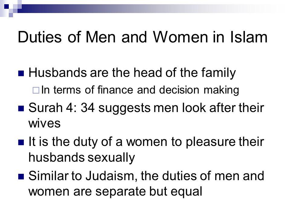 Duties of Men and Women in Islam