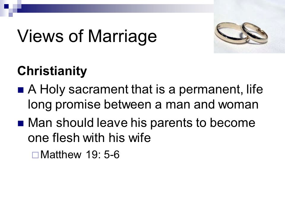 Views of Marriage Christianity